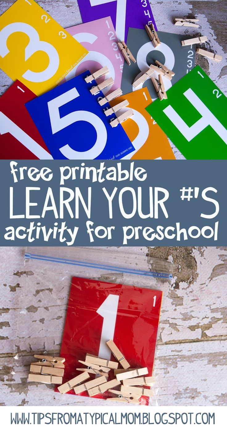 Teach Kids Numbers {Free Printable Activity} Preschool/Kindergarten