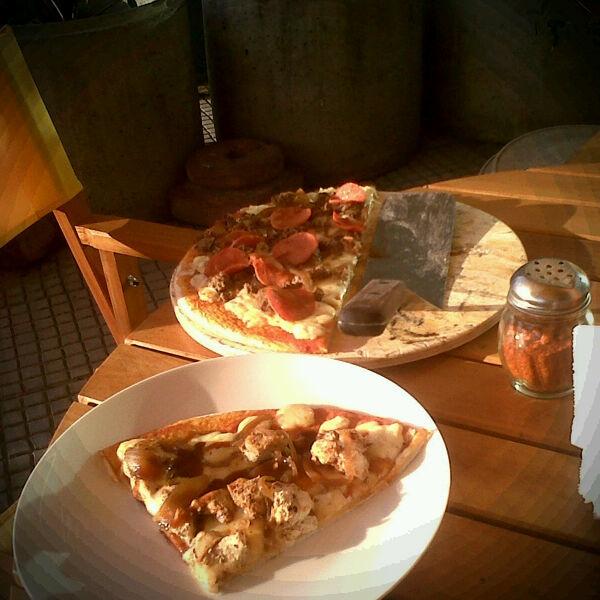 Pollo Corleone and Rocky Barbacoa, Rocco's Pizza