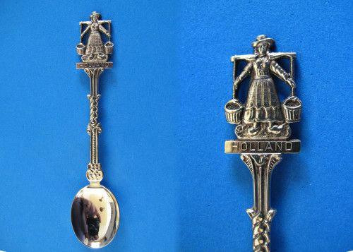 Holland Souvenir Collector Spoon Collectible Dutch Woman J.O. Alpacca