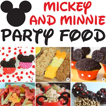 30 awesome Mickey Mouse and Minnie Mouse party food ideas