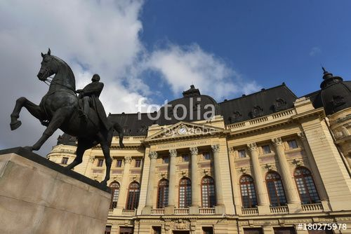 """Download the royalty-free photo """"Equestrian monument of King Carol I in Bucharest, Romania"""" created by yournameonstones at the lowest price on Fotolia.com. Browse our cheap image bank online to find the perfect stock photo for your marketing projects!"""