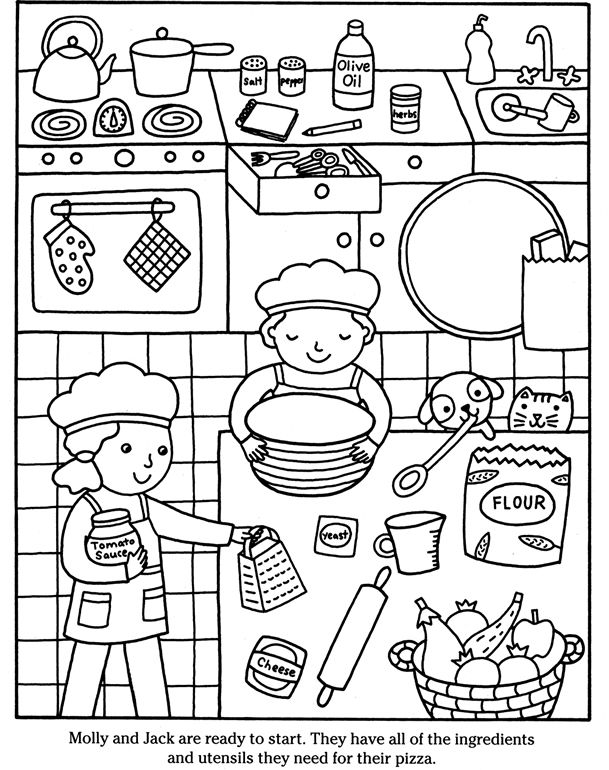Color & Cook PIZZA Dover Publications | Coloring pages 2nd edition ...