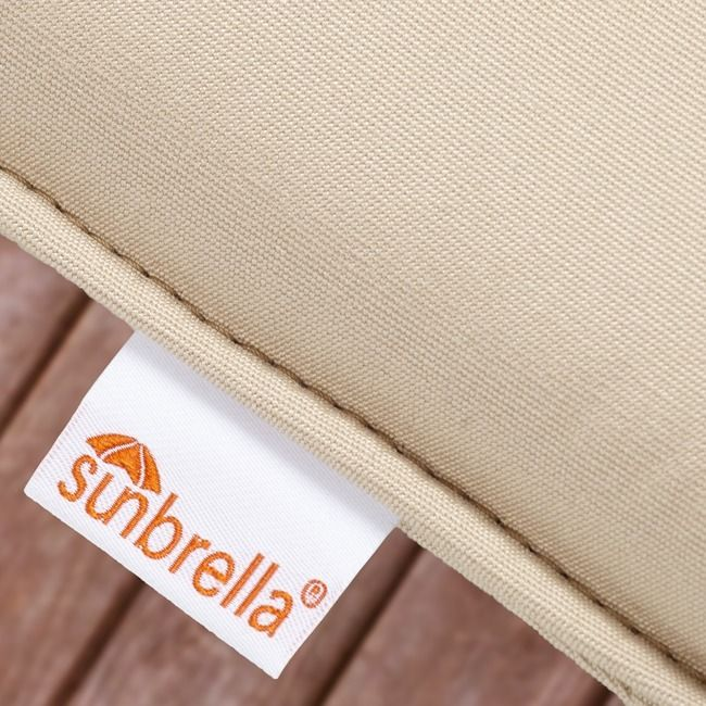 Indoor/ Outdoor 20-inch Solid Traditional Chair Cushion with Sunbrella Fabric