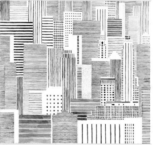 Allemaal verschillende lijnen maken een mooi kunstwerk.