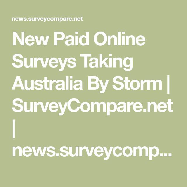 New Paid Online Surveys Taking Australia By Storm | SurveyCompare.net | news.surveycompare.net