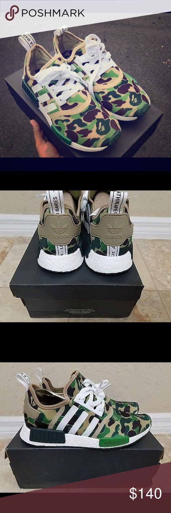 Adidas   NMD R1 Bape APE sizes ,5.5,6,6.5,7.5 Adidas Camuflaje  NMD R1 Bape BATHING APE Talla 9.5 Adidas Shoes Athletic Shoes