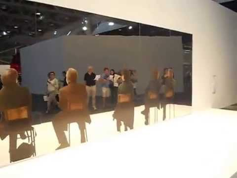 Michelangelo Pistoletto ad Art Basel Unlimited 2014.