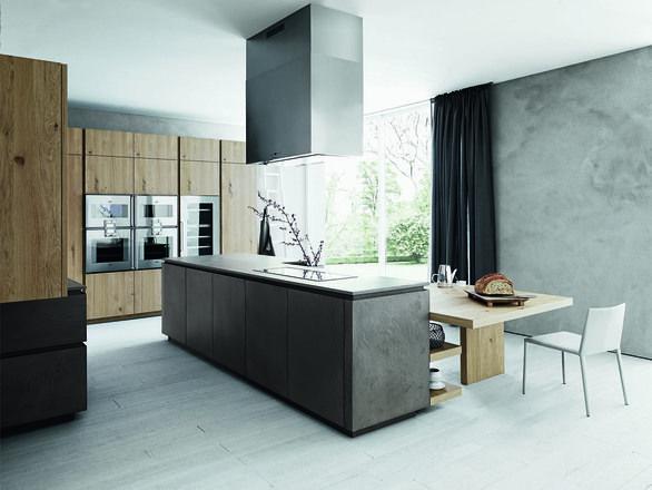 Eco cemento scuro## Rovere nodato natural | Cesar
