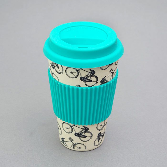 Bike Eco Cup with a Silicon Lid: This is an eye catching Eco Cup with a Silicon Lid decorated with a vintage bicycle design – perfect for keeping your favourite drinks hot or cold while commuting. It has a beautiful vintage bikes print and also a turquoise silicon lid and protective sleeve – useful when using with hot drinks.  Our Bikes Eco Cup with a Silicon Lid is the most eco friendly way to enjoy your coffee or tea and makes the perfect gift for all your friends who are environmentally…