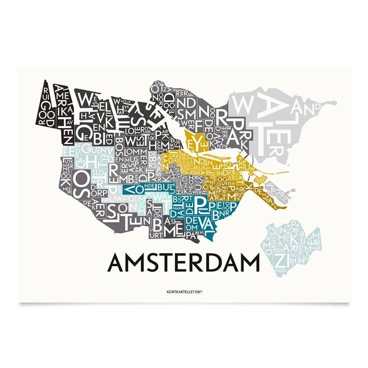 Kortkartellet Poster Amsterdam Multi Special Edition - 70 x 100 cm