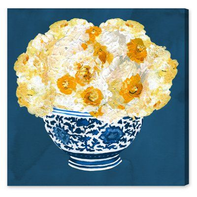 Oliver Gal Blue and Yellow Vase Canvas Art - 20528_50X50_CANV_XHD