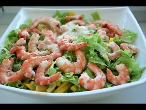 Самый вкусный салат с креветками и авокадо. Легкий салат с авокадо рецепт. Салат с креветками рецепт - YouTube