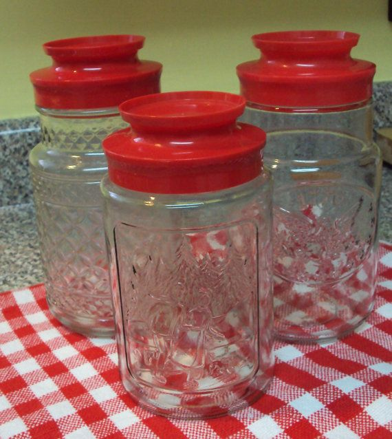 vintage kitchen storage jars three vintage glass storage jars kitchen cottage style 6833
