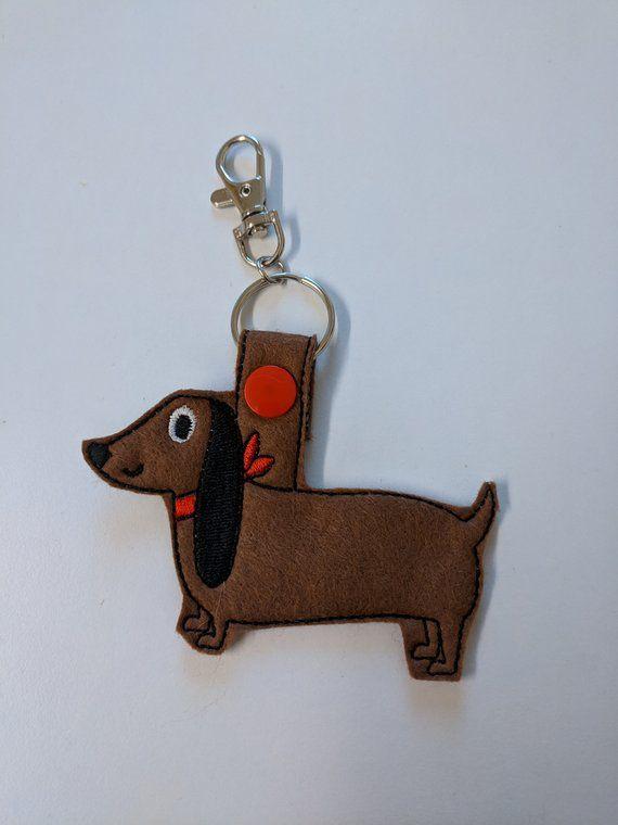 Dachshund Dog Keyring Sausage Dog Gift Dog Gifts Dachshund