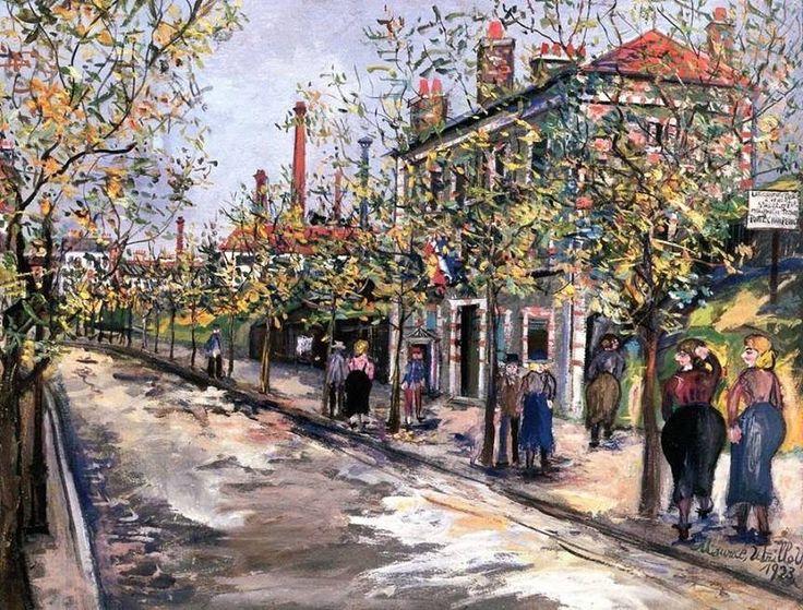 Maurice Utrillo (1883 - 1955): Avenue des Ternes, Porte de Champerret, 1923