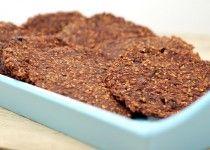 Chocolade koekjes van havermout en banaan – gezonde snack