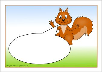 Red squirrel-themed editable target board posters (SB4707) - SparkleBox