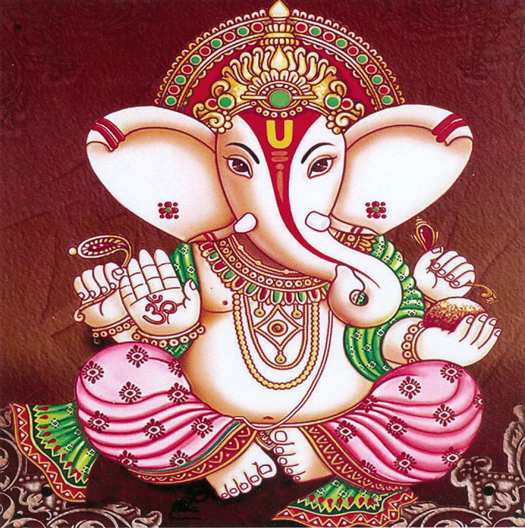 Lord Ganesha (Reprint on Card Paper - Unframed))