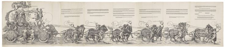 Albrecht Dürer (1471-1528)  The Triumphal Cart of the Emperor Maximilian  1522 first Latin edition, published 1523