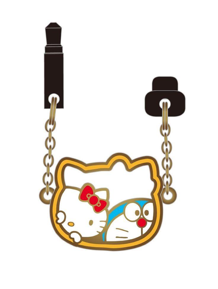 Doraemon x Hello Kitty headphone jack plugg
