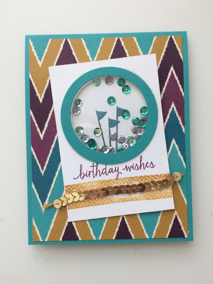 Build a Birthday, Bohemian DSP, Shaker Card, sequins