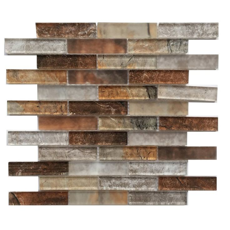 Best Shop Bestview Grey Umber 12 In X 12 In Glass Linear Mosaic 400 x 300
