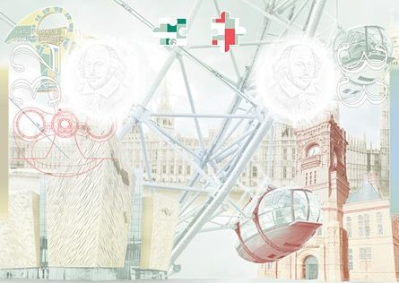 Examples of British design featured on its pages include the Houses of Parliament, the London Eye and Titanic Belfast