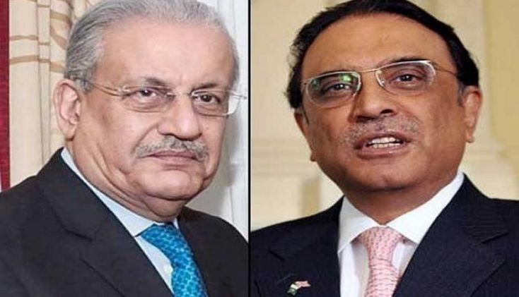 Islamabad (Stadium Cast) -  Pakistan Peoples Party's Co-Chairman Asif Ali Zardari opposed the volunteer to form a Senate.  Former President Asif Ali Zardari met Maulana Fazlur Rehman, head of Jamiat Ulema-e-Islam (F) in Islamabad, in his