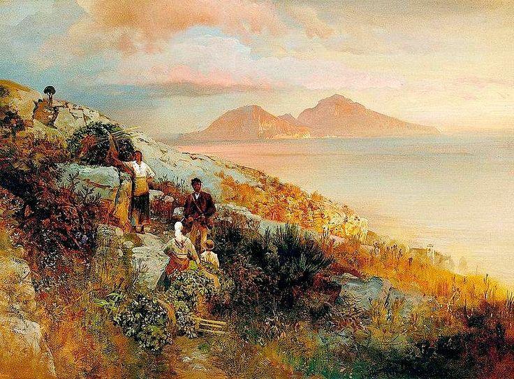 Veduta di Capri - Oswald Achenbach(1827-1905)