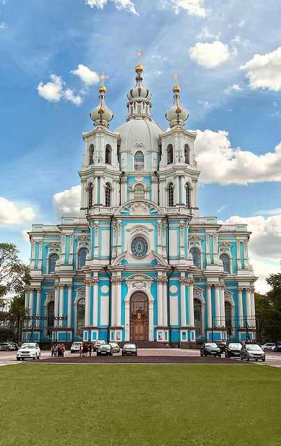 Smolny Cathedral, St Petersburg, Russia