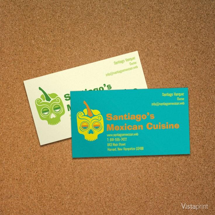 Mexican Skull Business Card Vistaprint Fiesta