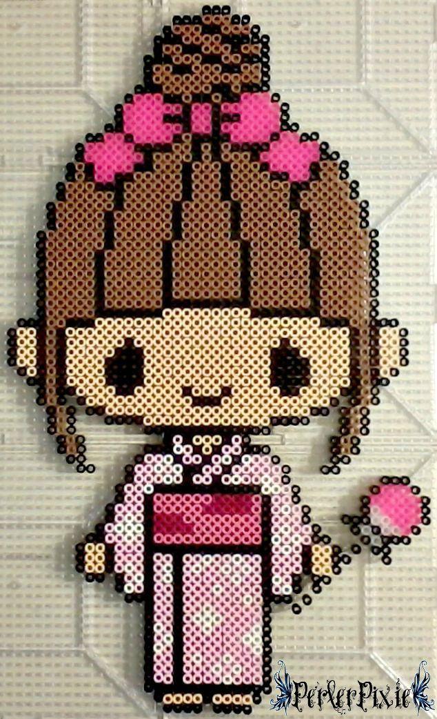 Kimono Girl perler beads by PerlerPixie
