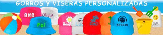 gorros para el sol y viseras personalizadas