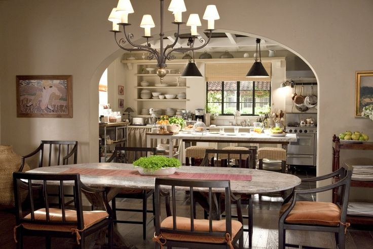 """Kitchen + dining area from """"It's Complicated"""" set"""