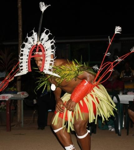Torres Strait Islander dancer. Torres Strait Islanders have a distinct culture which has slight variants within each island or community.  Torres Strait Islanders are a sea-faring people, and engaged in trade with people of Papua New Guinea.  The culture is complex, with some Australian elements, some Papuan elements, and Austronesian elements (also seen in the languages spoken). #Aboriginal #Indigenous #Islander #TorresStrait #Culture #Australia #Queensland #Traditional  #Dancer