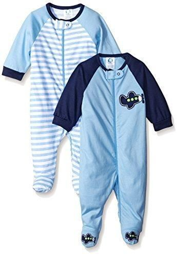 Gerber Baby Boys  2 Pack Zip Front Sleep  N Play Transportation 3-6 Months 3f31bb2b9
