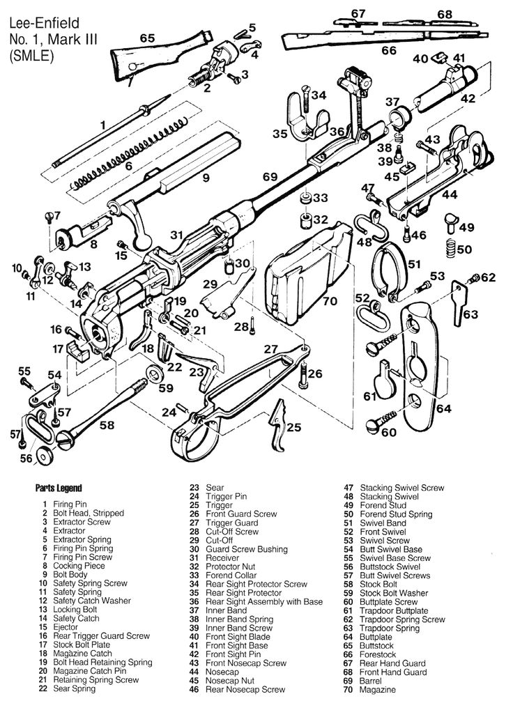 Lee Enfield SMLE Parts Diagram