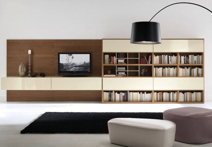 contemporary wooden TV wall unit ALL DAY 07 md house