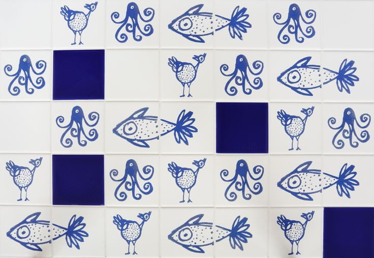 """Wild animals"" tiles design by Paula Juchem per Shop Saman."