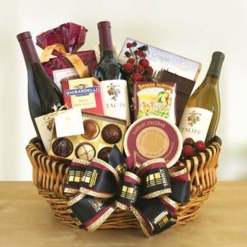 49 best gifts for business associates images on pinterest basket exquisite wine trio cheese ghirardelli gift basket negle Gallery