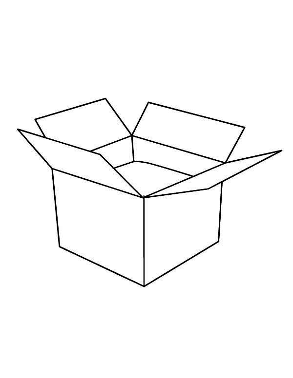 Box An Open Box Coloring Page Coloring Pages Color Color Worksheets