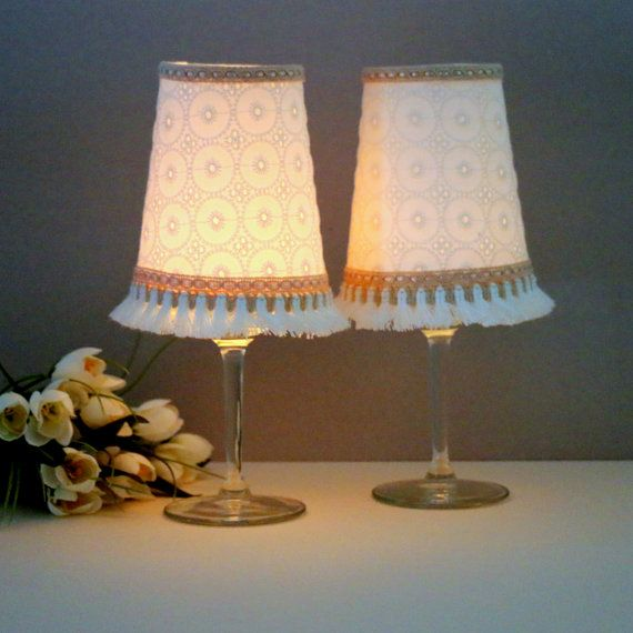Broderie anglaise lace Candle Holder, Candle Lantern, Broderie anglaise Candle Holder, Lace Candle Lantern, Candles Centerpiece