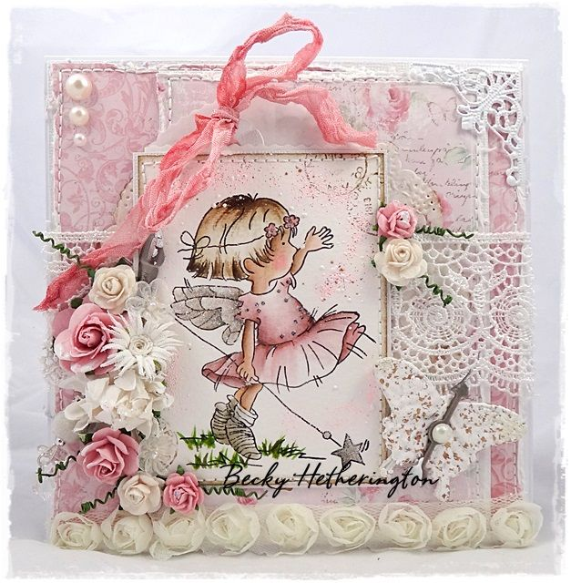 Card by LLC DT Member Becky Hetherington, using papers from Maja Design's Sofiero collection and an image from LOTV.