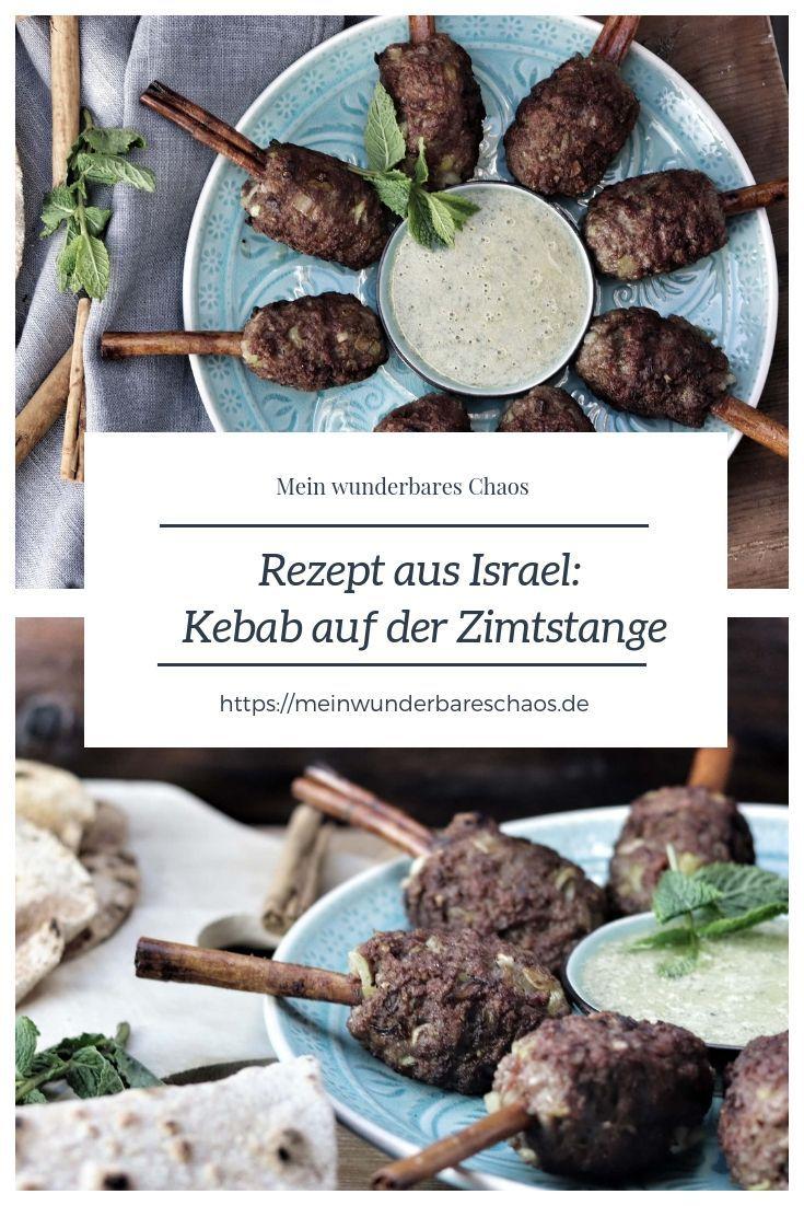 Lammkebab Auf Der Zimtstange Mit Minz Tahini Sauce Und Pitah Levantekuche Kebab Food Fabulous Foods