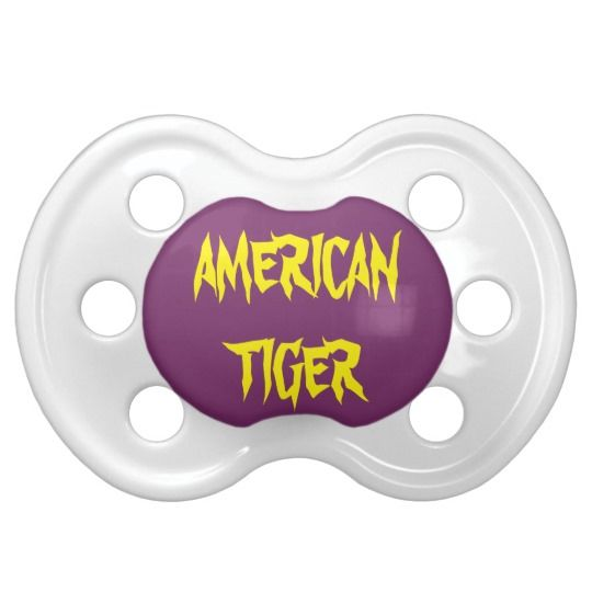 #zazzle #baby #boy #girl #gift #giftidea  #0-6months #BooginHead® #Pacifier #American #Tiger