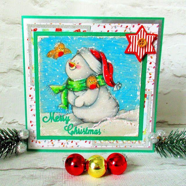 Dream Laine: N'ice Friends!  #pencil #fabercastell #polychromos #prismacolor #christmas #illustration #snowman #handmade