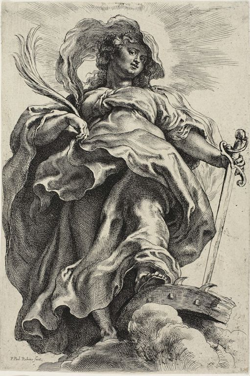 Rubens Drawings | Peter Paul RubensFlemish, 1577-1640, Saint Catherine