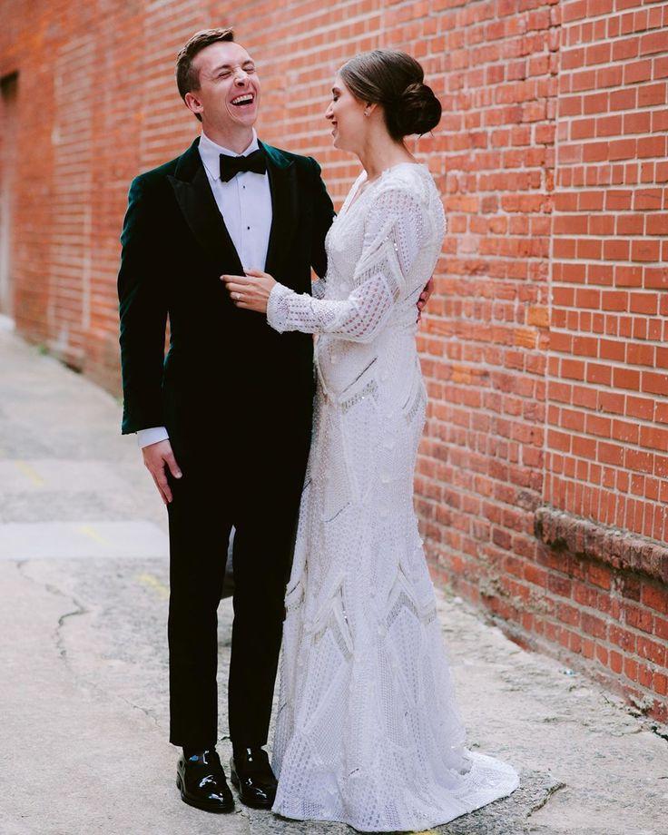 Saks 5th avenue wedding dress bride and groom first look