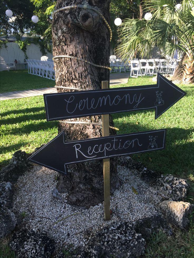 Ceremony and reception black board. Garden Wedding.