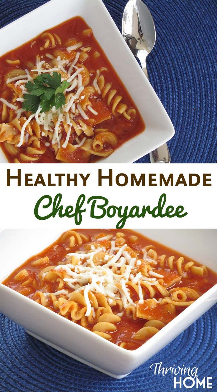 Healthy Homemade Chef Boyardee Pasta: Skip the canned junk and make this delicious and nutritious pasta dish for your family instead.